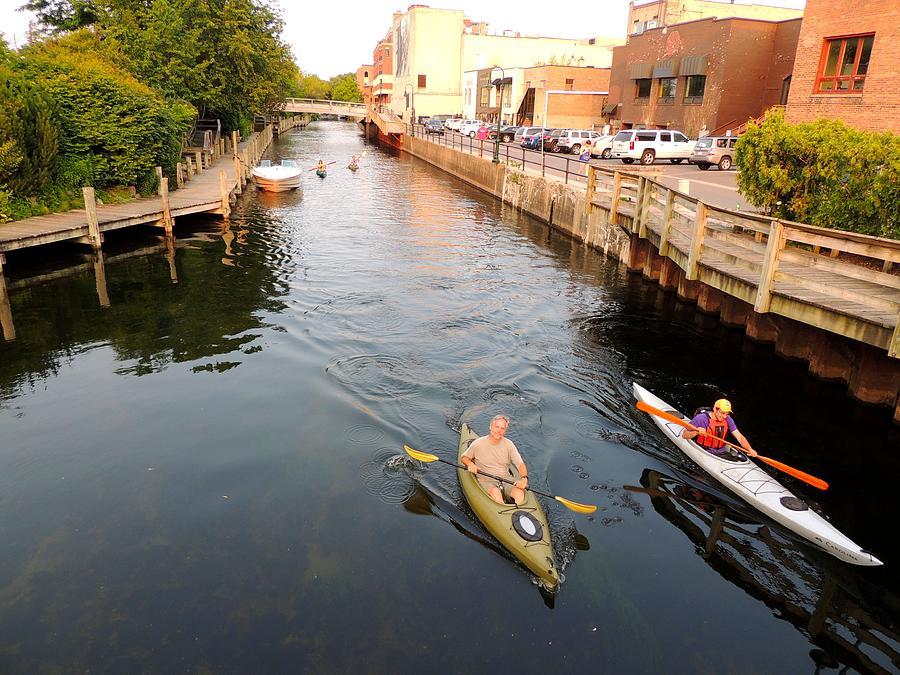 Kayaking through Traverse City