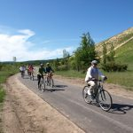 Locals Riding Their Bikes Along the Sleeping Bear Heritage Trail