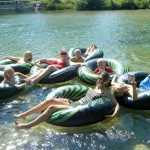 Family Enjoying River Tubing in Northern Michigan