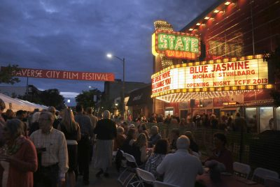 Traverse City Film Festival in front of the State Theatre in Downtown Traverse City