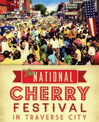Retro-Style Image of the National Cherry Festival in Downtown Traverse City